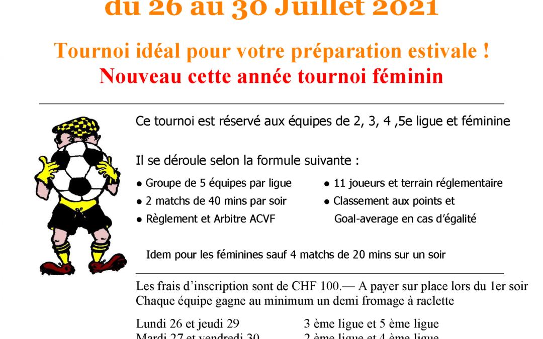 TOURNOI DE LA MENTHUE 2021